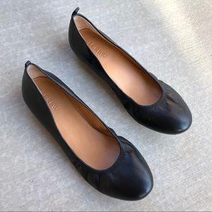 J Crew Black Anya Ballet Flats Size 8
